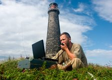 DXpedition sur des îles de Topy Photos stock
