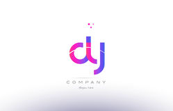 dy d y  pink modern creative alphabet letter logo icon template Royalty Free Stock Images