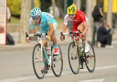 Dyachenko van Astana en Molard van Cofidis Stock Afbeeldingen