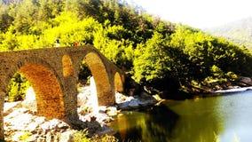 Dyavolski most in sun stock image