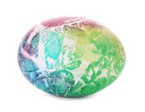 Dyed Easter egg on white background stock photography