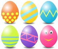 Dyed Easter Eggs - Illustration Royalty Free Stock Images