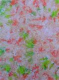 Dyed fabric for sewing. Abstract dyed fabric background. Colorful fabric royalty free stock image