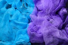 Dyed gauze fabric stock images