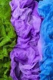 Dyed gauze fabric royalty free stock image