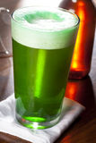 Dyed Green Beer for St. Patricks Day Stock Photography
