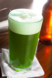 Dyed Green Beer for St. Patricks Day Royalty Free Stock Photo