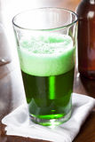 Dyed Green Beer for St. Patricks Day. Celebration Stock Photos