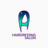 Dyed hair logo Stock Photo
