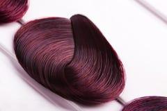 Dyed locks of hair Stock Image