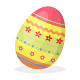 Dyed patterns egg for Easter. Easter single icon in cartoon style rater,bitmap symbol stock illustration. Stock Photos
