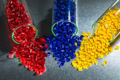 Dyed Plastic Resins Stock Images
