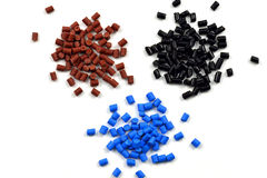 Dyed polymer pellets Royalty Free Stock Photo