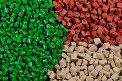 Dyed polymer resin Stock Photos