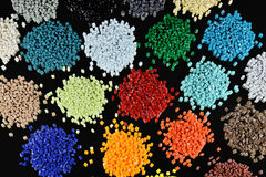 Dyed polymer resin Stock Images