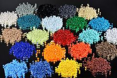 Dyed polymer resin Stock Image