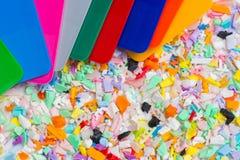 Dyed riaffila con i campioni di colore Immagini Stock Libere da Diritti
