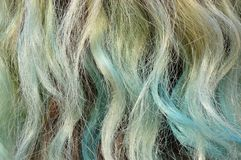 Dyed Streaky Hair Texture Stock Photo