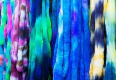 Hand  Dyed wool Combed Top Royalty Free Stock Photo