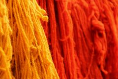 Dyed Yarn Royalty Free Stock Images