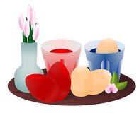 Dyeing the eggs, cdr vector royalty free stock photography