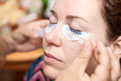 Dyeing permanent makeup Royalty Free Stock Image