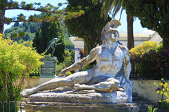 Dying Achilles, Achilleion Palace - Corfu. The statue of Dying Achilles in Achilleion palace, built in Corfu by Empress of Austria Elisabeth of Bavaria, also Royalty Free Stock Photo