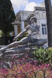 Dying Achilles on the Terrace at the Achilleion Palace on the island of Corfu Greece built by Empress Elizabeth of Austria Sissi Royalty Free Stock Photos