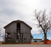 A Dying Barn Stock Photo