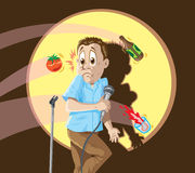 Dying comedian Royalty Free Stock Photography