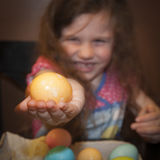 Dying Easter Eggs Royalty Free Stock Image