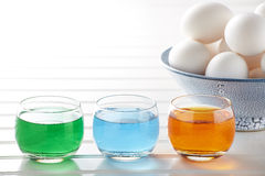 Dying Easter Eggs Stock Photography