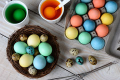 Dying Easter Eggs Horizontal Royalty Free Stock Photo