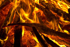 The dying fire Stock Images