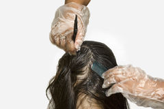 Dying hair Royalty Free Stock Photo