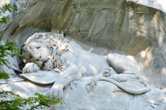 Dying lion of Lucerne monument in Switzerland Stock Photo