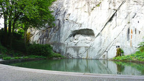 Dying lion monument landmark of Lucerne Stock Photo