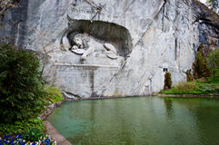Dying lion monument Royalty Free Stock Photo