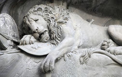 Dying lion monument Stock Image