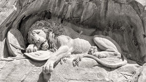 Dying lion monument in Lucerne Royalty Free Stock Photo