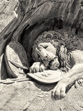 Dying lion monument in Lucerne Royalty Free Stock Photos