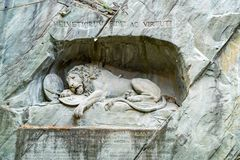 Dying Lion Monument of Lucerne Royalty Free Stock Image