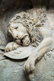 Dying lion monument in Lucerne Stock Images