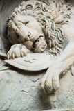 Dying lion monument in Lucerne Stock Image