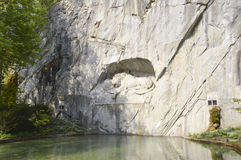 Dying lion monument in Lucerne, Switzerland Royalty Free Stock Photo