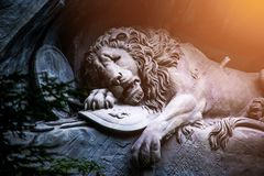 Dying lion monument of Lucerne, Switzerland Stock Photo