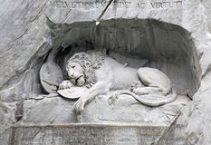 Dying Lion monument, Lucerne, Switzerland Stock Photos