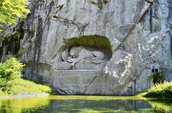 Dying lion monument in Lucerne, Switzerland Royalty Free Stock Photography