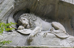The dying lion monument in Luzern Royalty Free Stock Photos