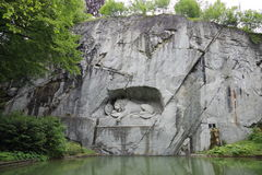 Dying Lion. Sculpture in Lucerne, Switzerland Royalty Free Stock Image